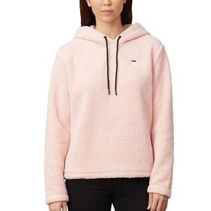 Women's Fila Ember Cropped Hoodie in Pink Size L